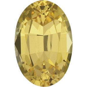 Sapphire Oval 0.75 carat Yellow Green Photo