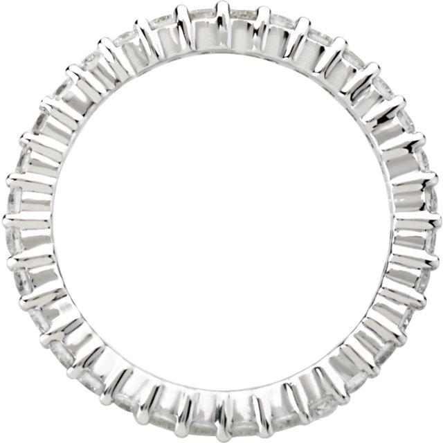 14K White 1 CTW Diamond Eternity Band Size 6.5