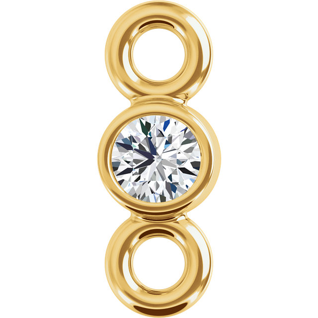 14K Yellow 1/4 CTW Diamond Micro Bezel Link