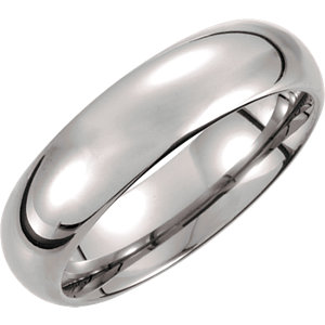 Tungsten 6mm Domed Band Size 10