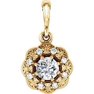 Pendant, 14K Yellow 1/3 CTW Diamond Pendant