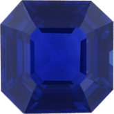 Modified Square Genuine Blue Sapphire (Black Box)