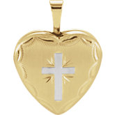 Cross & Heart Locket