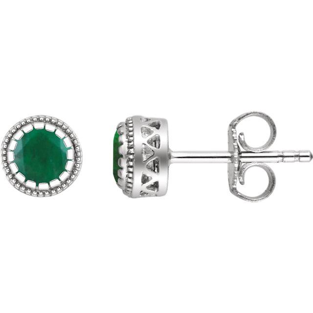 14K White Emerald