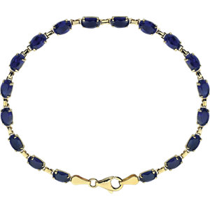 14K Yellow Lab-Grown Blue Sapphire 7.25