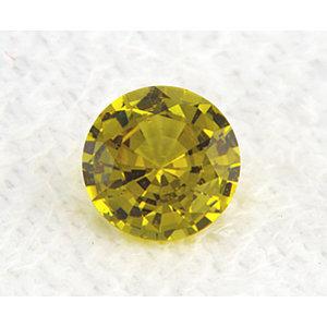 Sapphire Round 0.85 carat Yellow Photo