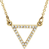 Triangle Necklace or Center