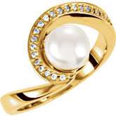 Accented Swirl Ring Mounting for Pearl