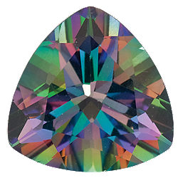 10 mm Trillion Faceted AA Green Mystic Topaz | Stuller