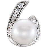 Accented Pearl Pendant