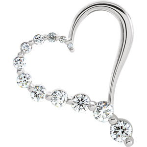 Journey Diamond Heart Pendant