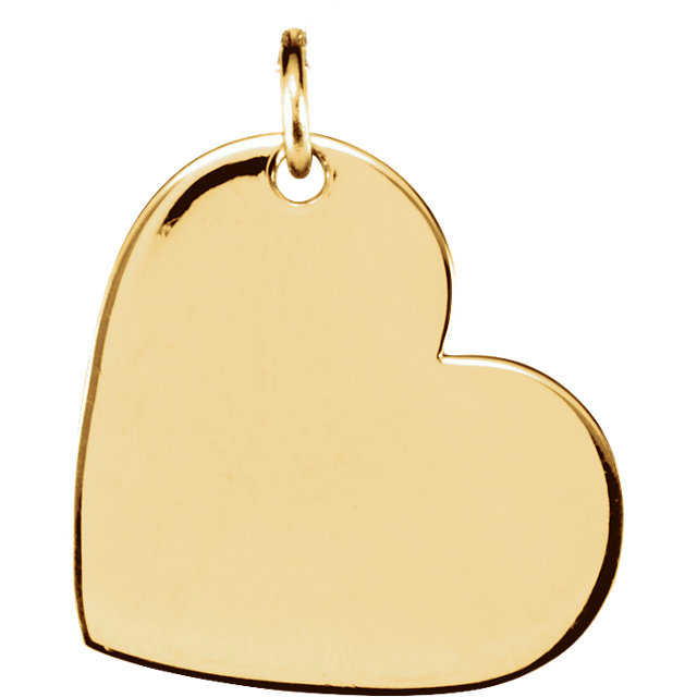 14K Yellow 16x14 mm Heart Pendant