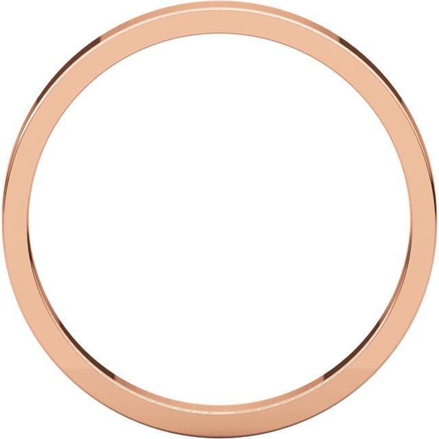 18K Rose 2.5 mm Flat Band