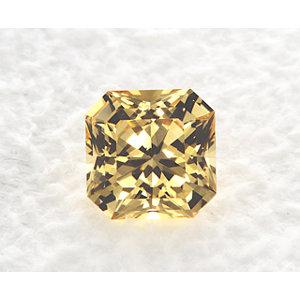 Sapphire Asscher 1.20 carat Yellow Photo
