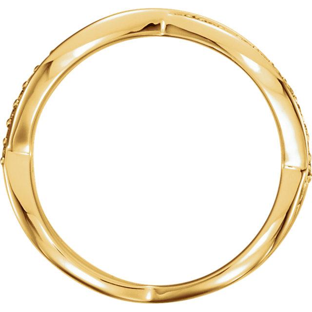 14K Yellow 1/5 CTW  Diamond Infinity-Inspired Ring