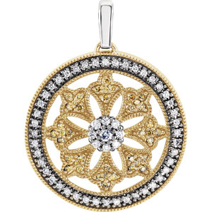 14K Yellow 1/2 CTW Diamond Ferris Wheel Pendant