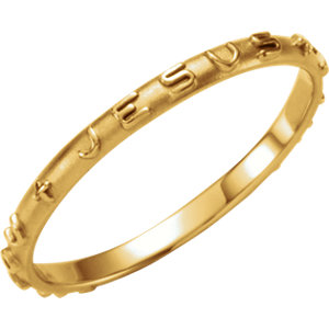 14K Yellow Prayer Ring