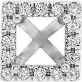 Square 4-Prong French-Set Halo-Style Peg Setting