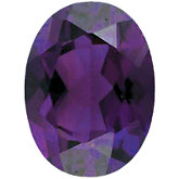 Oval Imitation Amethyst