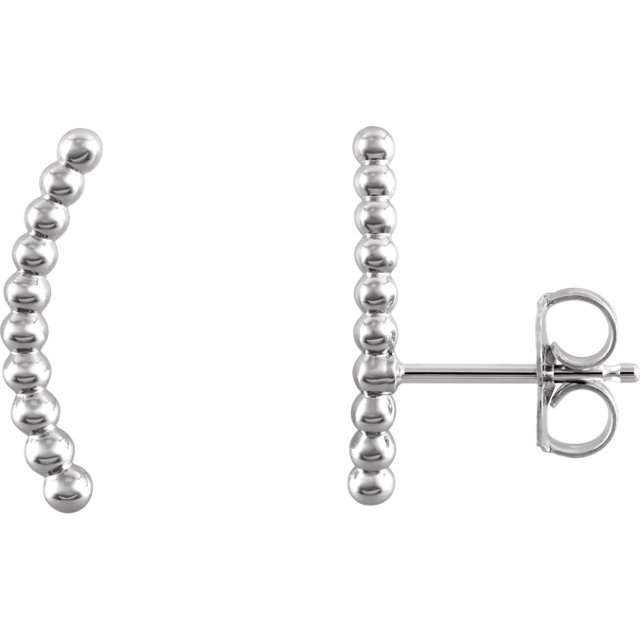 95c964db2 Sterling Silver Beaded Ear Climbers - 86498-604-P