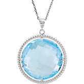 Sky Blue Topaz Rope Design Necklace or Pendant Mounting