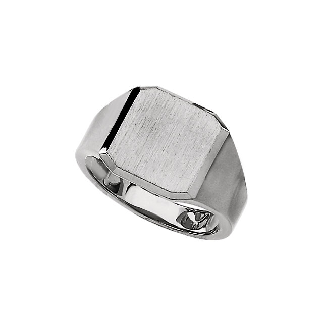 Sterling Silver 14mm Men-s Solid Signet Ring