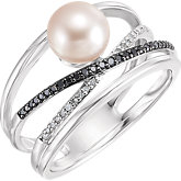 Criss-Cross Pearl Ring