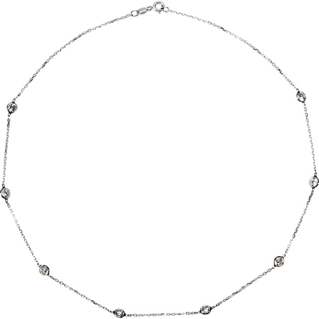 Sterling Silver Cubic Zirconia 16