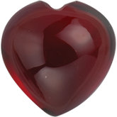 Heart Genuine Cabochon Mozambique Garnet
