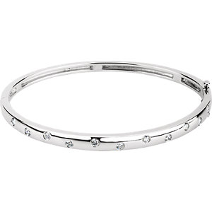Bracelet, 14K White 0.50 CTW Diamond Bangle Bracelet