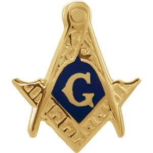 10K Yellow Masonic Blue Lodge Fraternal Trim | Stuller