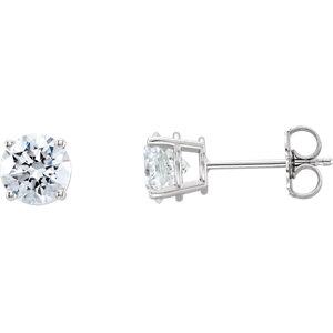 14k White 2 Ctw Lab Grown Diamond Stud Earrings