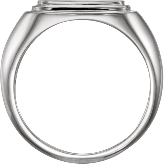 Sterling Silver Posh Mommy® Men-s Square Signet Ring
