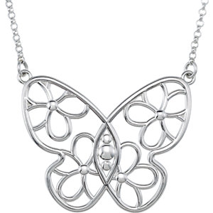 Butterfly & Floral-Inspired Necklace or Center
