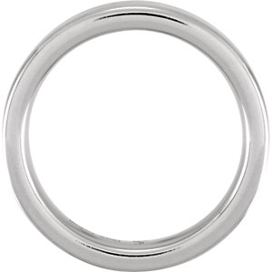 Cobalt & Continuum Sterling Silver 6mm Flat Band Size 10