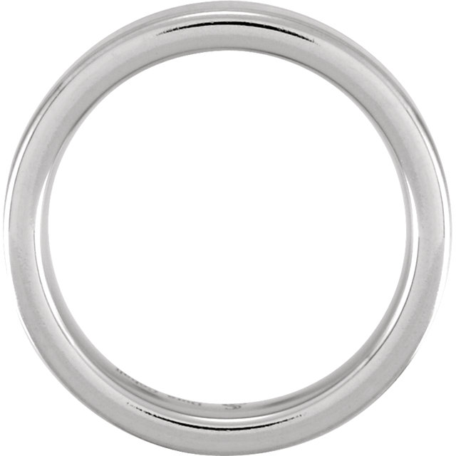 Cobalt & Continuum Sterling Silver 6 mm Flat Band Size 10