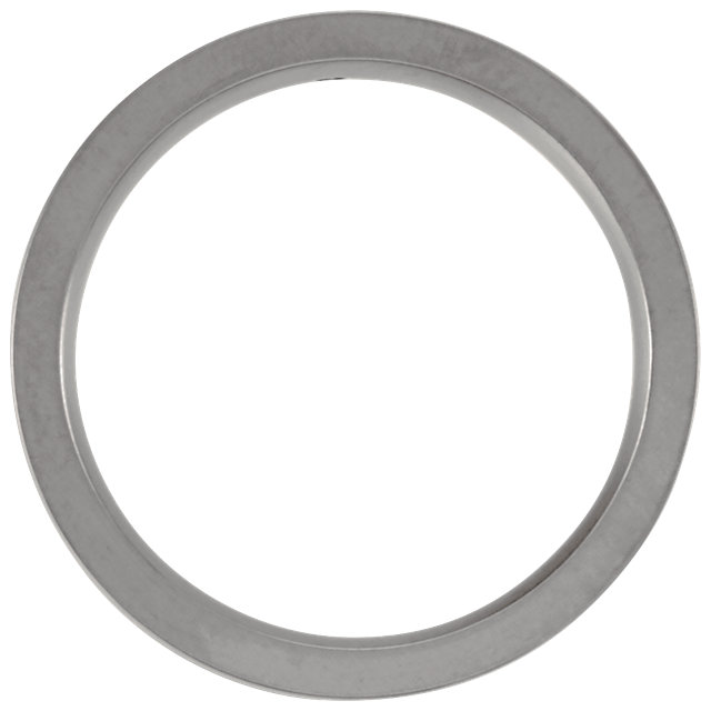 Titanium .025 CTW Diamond Grooved 6 mm Band Size 12