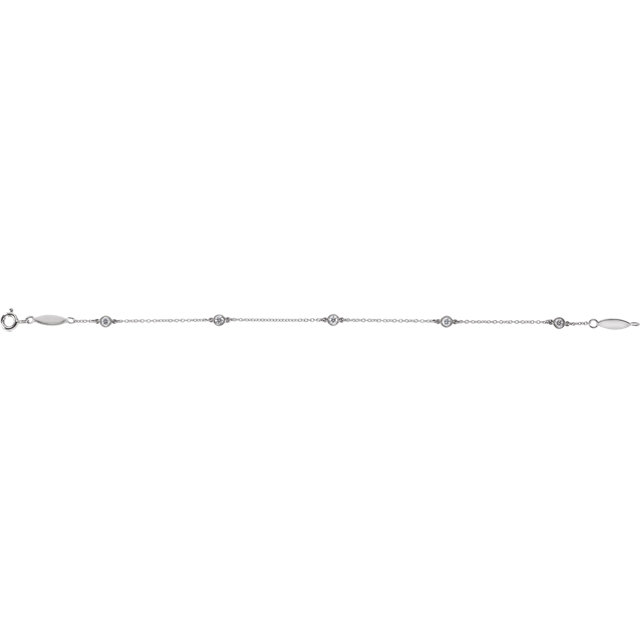 14K White 1/3 CTW Diamond Bracelet