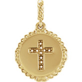 Rope Cross Necklace or Pendant