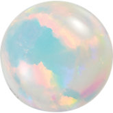 Round Lab Created White Opal