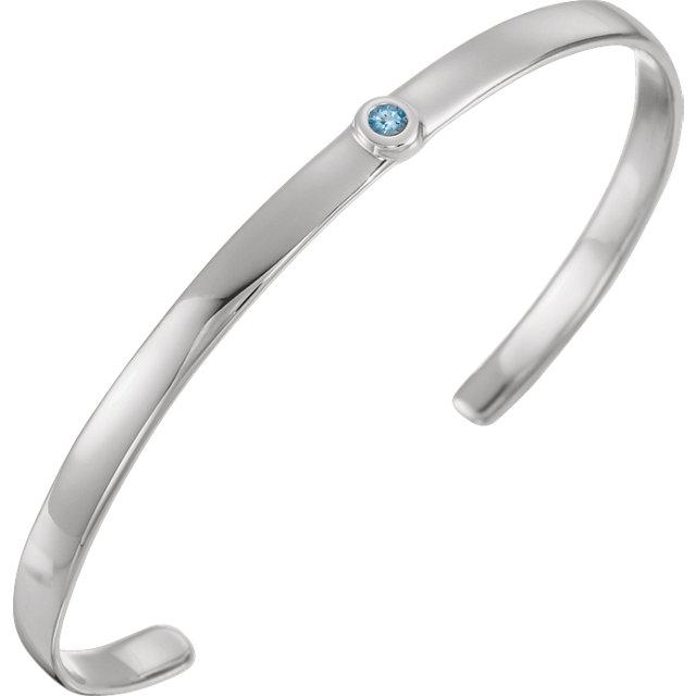 Sterling Silver Aquamarine Cuff 6