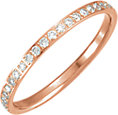 14K Rose 3/8 CTW Diamond Eternity Band Size 6