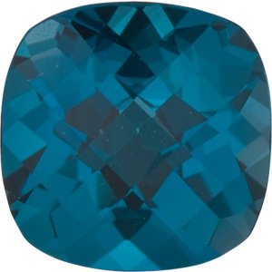 Topaz Cushion 0.75 carat Blue Photo