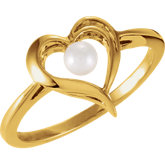 Heart Ring Mounting for Pearl