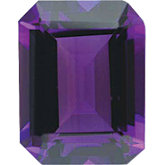Emerald/Octagon Imitation Amethyst