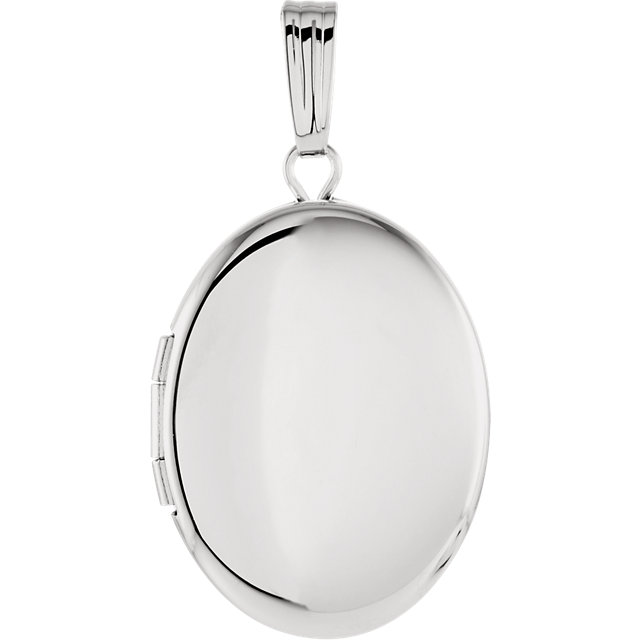 Sterling Silver 28.9x16 mm Oval Locket