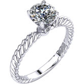 4-Prong Solitaire Engagement Ring with Accent