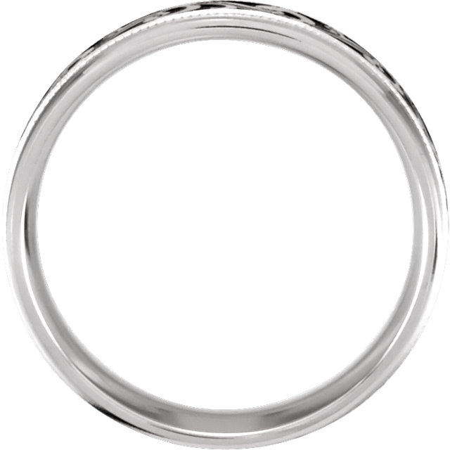 14K White 7 mm Comfort-Fit Enamel Band Size 12