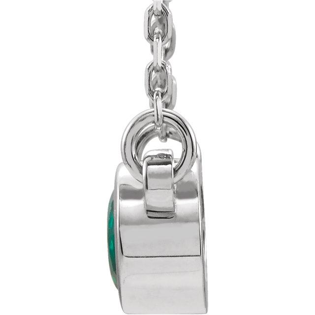 Sterling Silver Emerald 16