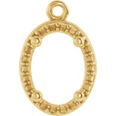 Oval 4-Prong Halo-Style Dangle